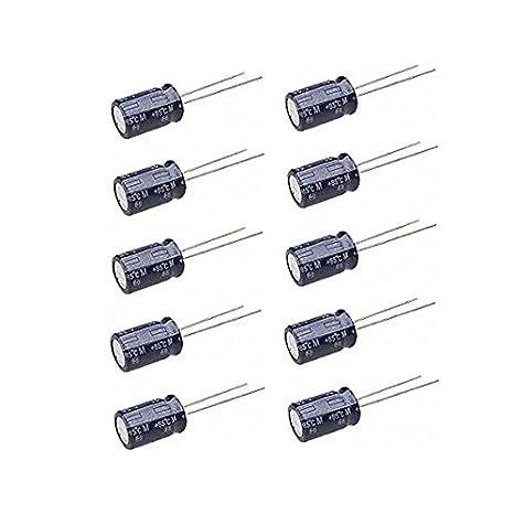 PIXNOR Condensatore Elettrolitico 10pcs 1000uF 16V 15MM