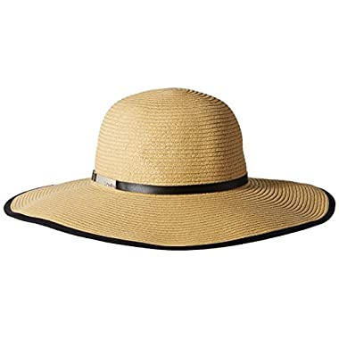 Calvin Klein Women's Sun Hat with Buckle Band, Natural, One Size