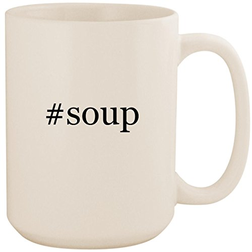 #soup - White Hashtag 15oz Ceramic Coffee Mug Cup