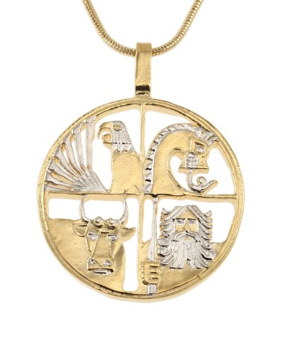 Krona Coin - Iceland Pendant & Necklace, Iceland 1000 Krona Coin