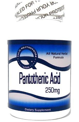 Pantothenic Acid 250mg 200 Capsules ^GLS