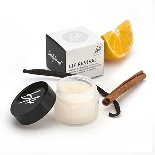 Beauty For Real Lip Revival Exfoliating and Hydrating Lip Scrub, 0.5 oz.
