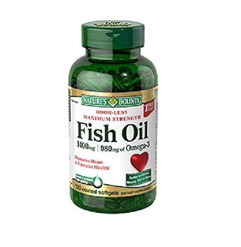 Nature's Bounty Fish Oil 1400 Mg Odor-less Maximum Strength: 130 Coated Softgels by Nature's Bounty