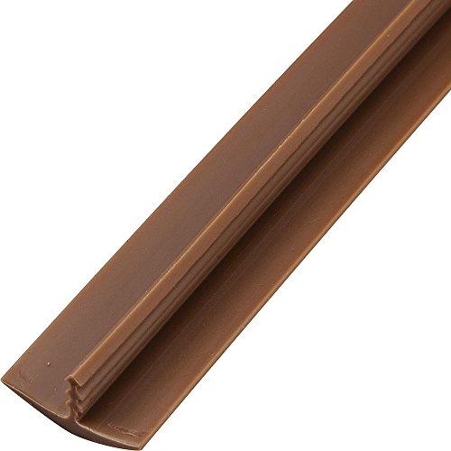 - 3/4 x 12' Plastic T-Molding, Brown