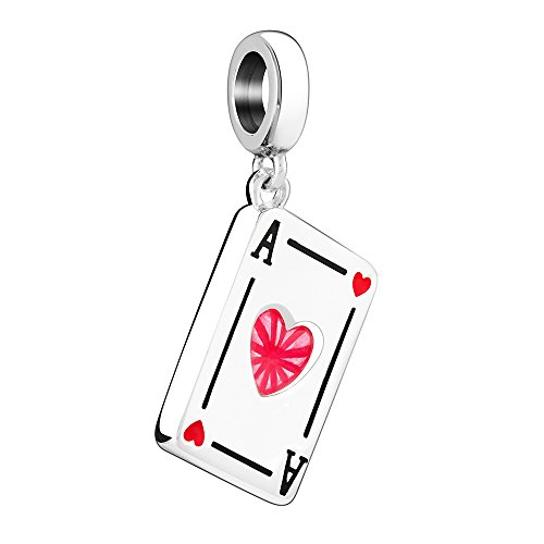 Chamilia Heart (Chamilia Sterling Silver Ace of Hearts Bead Charm)