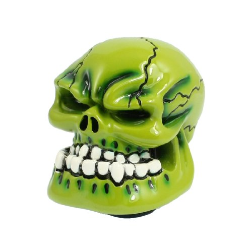 uxcell Green Human Wicked Skull Shift Knob for Car