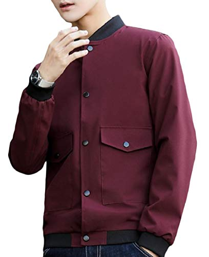 Outwear Collar Men's Sleeve Stand Lounge Pattern6 Long Plus Pocket Size Energy Coat XdxqwzRX