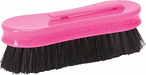 "Weaver Leather PINK Livestock Mini Horse Plastic Face Brush 1"" Polypropylene Bristles 1-1/2"" wide x 5"" long"