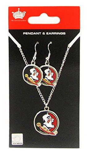 Florida State Seminoles Seminole Pendant - Florida State Seminoles - NCAA Earrings & Pendant Necklace Gift Set