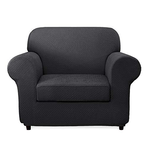 CHUN YI 2-Piece Sofa Covers Seersucker Jacquard Polyester Sp