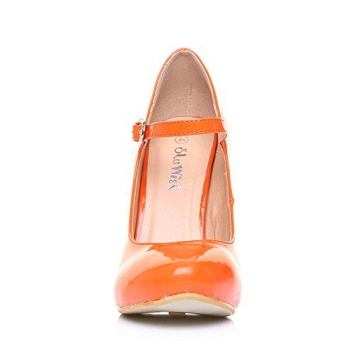 Tacco Di Arancio Pelle Con Spillo Mischa Scarpe In Sintetica A Orange qFS0x5