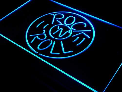 ADVPRO Cartel Luminoso i489-b Rock and Roll Musics Punk Bar ...