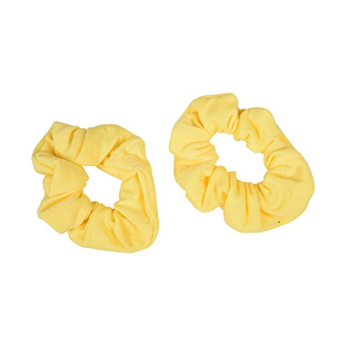 Set of 2 Solid Scrunchies - Pale Yellow