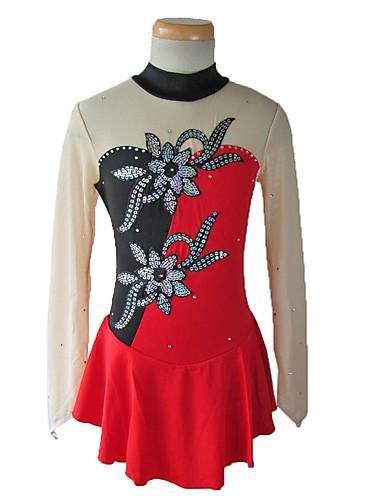 Et Spandex Artistique 130 Rouge Blanc Soie Femme Noir Gw rouge new Hautsrobe Robe Wg De Vert Patinage De Flanelle Fille Mousseline ZRxSP4qw