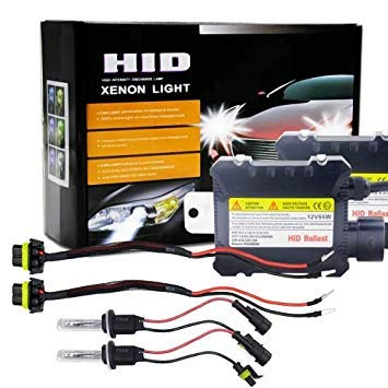 Uniqus 55W 880 881 H27 4300K HID Xenon Conversion Kit with High Intensity Discharge Alloy Slim Ballast, Warm White