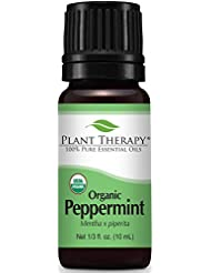 Plant Therapy Organic Essential Oil, Peppermint, 0.33 Ounce