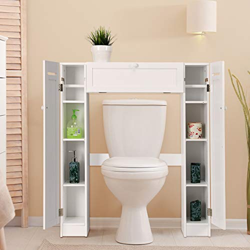 Giantex Over The Toilet Bathroom Storage Cabinet Wooden