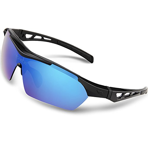 1e38dad4ae5 TOREGE Polarized Sports Sunglasses For Cycling Running Fishing Golf