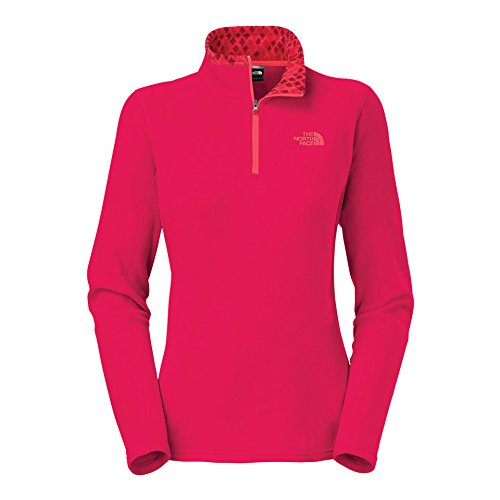 the-north-face-glacier-1-4-zip-fleece-womens-cerise-pink-heather-xs