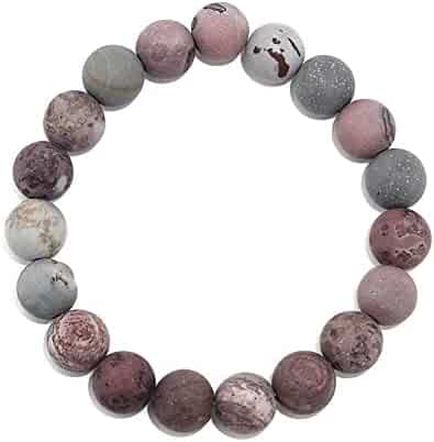 Pink Plan Beads Silver Plated 12 Grams Beacelet 7-9 Long Antique Look Handmade Jewellry