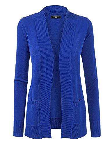 WSK926 Women Open Front Knit Cardigan XXXL ROYAL_BLUE