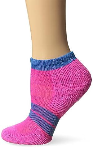 Thorlo 84n Micro-Mini Crew Sock, Electric Pink/Blue Aster, M (Women's: 7-9) - 84n Runner