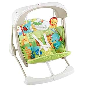 Fisher-Price - Columpio hamaca portable 2 en 1, para bebé recién nacido (Mattel CCN92)