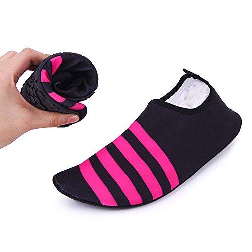 [ Badeschuhe Elastizität ] Modern Unisex Mesh Badeschuhe Surfschuhe Wattschuhe Strandschuhe Aqua Schuhe für Damen & Herren Rutschfeste Sohlen Couple Shoes -iisport®