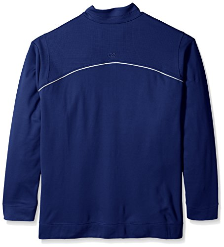 Cutter & Buck Men's Big CB Weathertec Ridge Half-Zip, Tour Blue, Tall/Large by Cutter & Buck (Image #2)