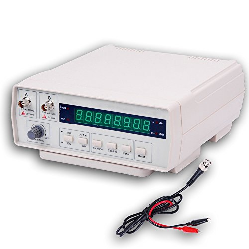 Frequency Counter, RISEPRO Digital Bench Frequency Signal Meter with AC Power Cable BNC Test Leads 10Hz - 2.4 GHz VC3165 - Frequency Counter Kits