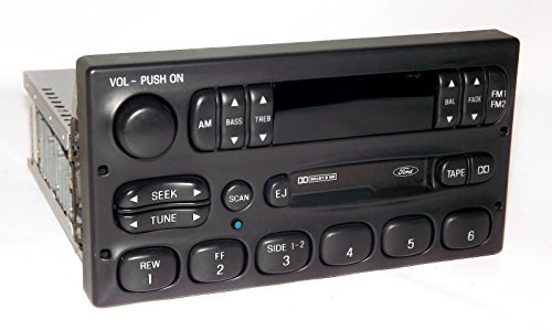 1 Factory Radio 638-00976-BT AM FM Radio Cassette Player Remanufactured Black Bluetooth Standard Sound Version w/M100 Plug Configuration OE Part Number: F7AF-19B132-AA AM FM Radio Cassette Player