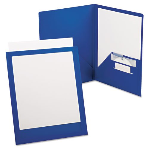 ViewFolio Plus Polypropylene Portfolio, 50-Sheet Capacity, Blue/Clear, Sold as 1 Each
