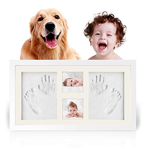 - Businesscastle Baby Handprint Footprint Picture Frame Kit-HOBFU 1.9x10.5x18 inches Keepsake Box for Boys and Girls Memorable Idea for Registry Personalized Table and Wall Photo Decoration
