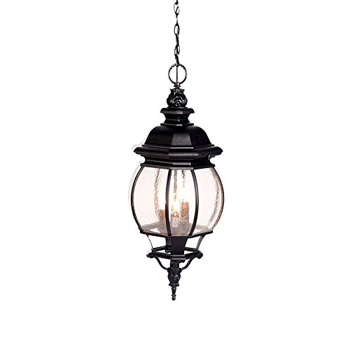 Acclaim 5166BK/SD Chateau Collection 3-Light Outdoor Light Fixture Hanging Lantern, Matte Black (Chateau Outdoor Pendant)