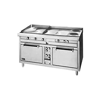 Amazon Com Lang R60s Atb 60 W Electric Range With 4 12 X 24 X 3 4 Thick Hot Plates 2 French Plates And 2 Standard Ovens Industrial Scientific