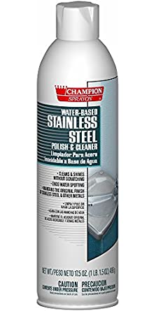 Champion 5153 Sprayon Water-Based Stainless Steel Polish and Cleaner, 17.5 oz Aerosol (Pack of 12)