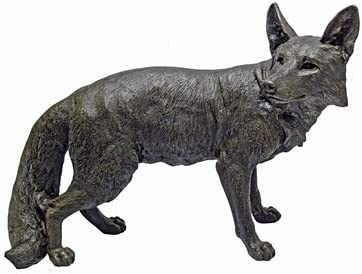 EttansPalace Life Size Fox Statue Sculpture