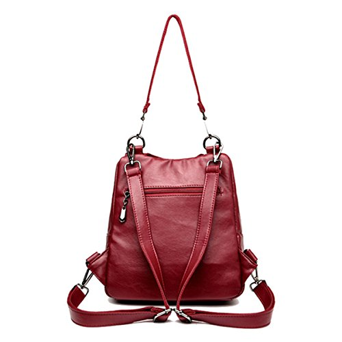 Backpack Fashion Purse Women Bag JOSEKO Multifunctional Solid Bag Leisure Shoulder Purple Crossbody 5SqdFFnx