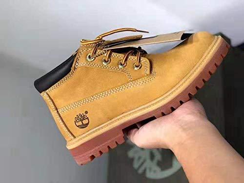 LOVDRAM Stiefel Männer Verschleißfeste Rutschfeste Gelbe Stiefel Outdoor Freizeitschuhe Herrenschuhe Damenschuhe Wasserdichte Stiefel In Den Martin-Stiefeln