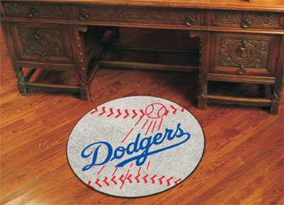 Fanmats Sports Team Logo MLB - Los Angeles Dodgers Baseball Mat -