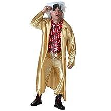 Seasons (HK) Ltd. mens Plus Size Back to the Future II Doc Brown Costume 2X