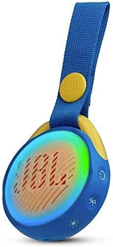 JBL JR POP Waterproof Portable Bluetooth Speaker for Kids with Ultra-Cool Lightshow (Blue 1-Pack)