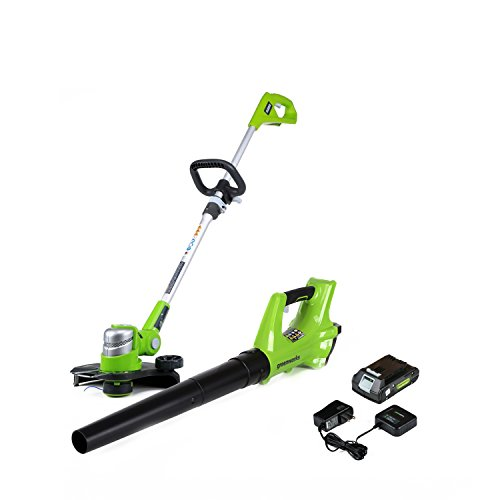 Greenworks 24V Cordless String Trimmer & Blower Combo Pack STBA24B210 ()