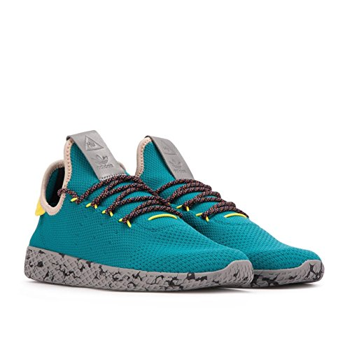 Adidas Mens PW Tennis Human Race Teal/Yellow Fabric Size 13 free shipping with paypal sale newest cheap comfortable outlet in China buy cheap 2014 new PCiM5h9Tj