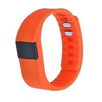 SURMOS Smart Sport Bracelet TW64 Smartband Wristband Fitness Tracker Bluetooth 4.0 Time Display Flexible Watch Bracelet (Orange)