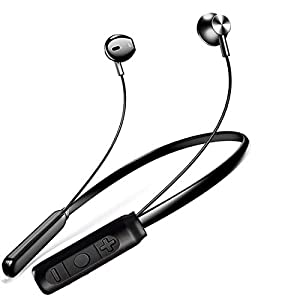 PTron Tangent Pro Headphone Neckband Stereo Earphone Bluetooth Headset with Mic for All Smartphones (Gray/Black) 4