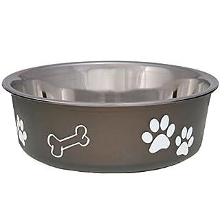 Loving Pets Bella Bowl for Dogs, Medium, Espresso