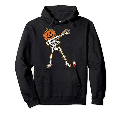 Halloween Dabbing Golfer Skeleton Hoodie | Cute Golfing Gift ()