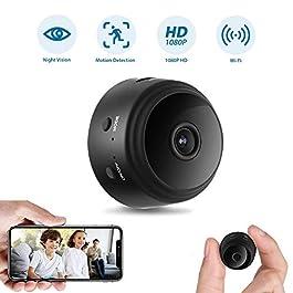 Mini Spy Camera Wireless Hidden Camera WiFi 1080P Night Vision Motion Detection Security Surveillance Cameras Nanny Baby…