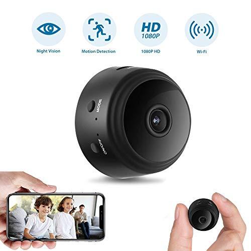 🥇 Mini Spy Camera Wireless Hidden Camera WiFi 1080P Night Vision Motion Detection Security Surveillance Cameras Nanny Baby Pet Cam with Phone APP